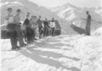 <p>Mrs. Fleming filming TASIS skiers in Andermatt.</p>