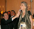 <p>Mrs. Fleming speaks at the Gala</p>