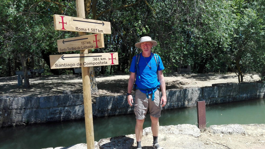 Paul Cawthorne on the Camino de Santiago