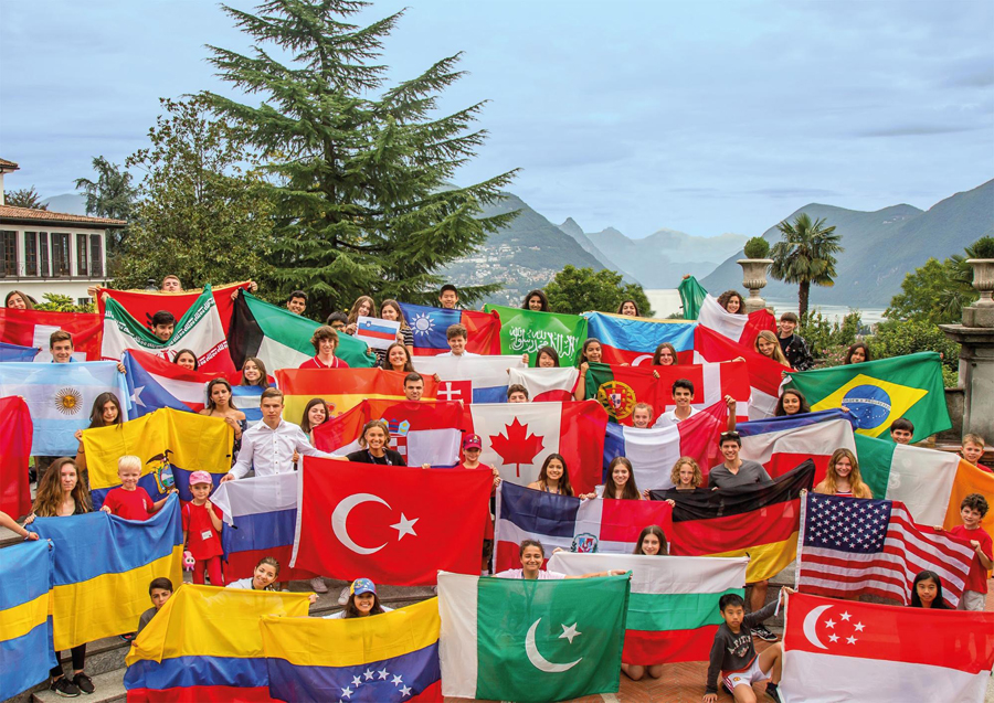 2017 Summer Programs Group of Flags