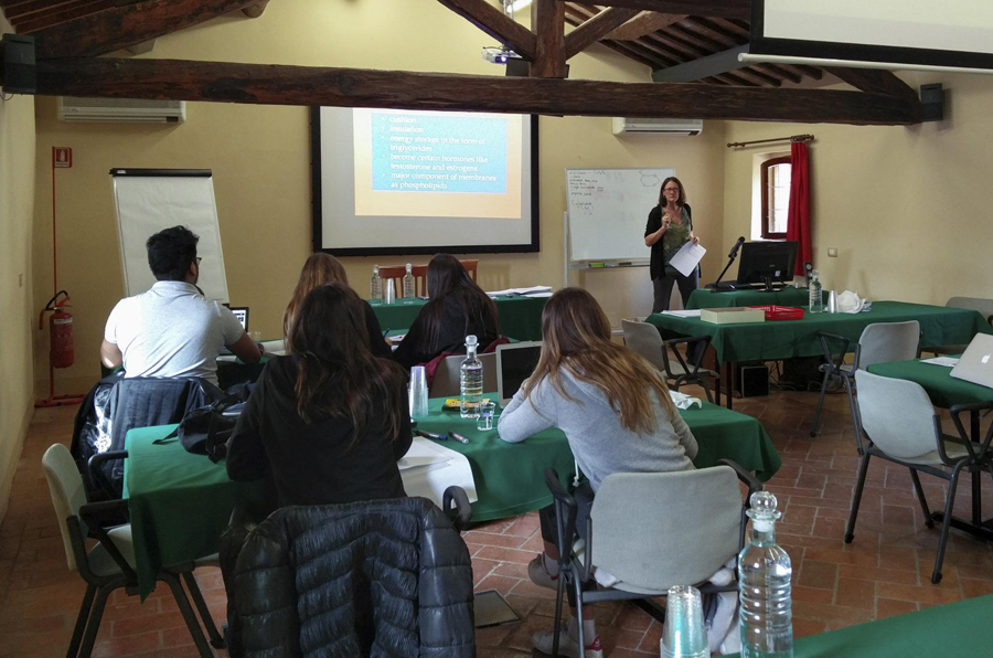 TASIS IB students studying at the Certosa di Pontignano