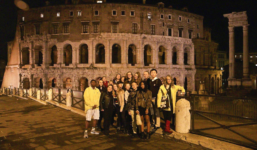 Theater group in Rome, Italy