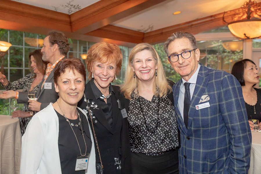 Yvonne Procyk, Judy Callaway Brand '63, Kelly Reynolds TESS '82, and Bill Eichner