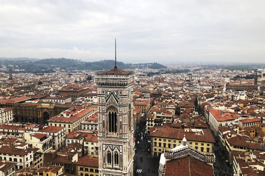 View from the top of the Duomo in Florence