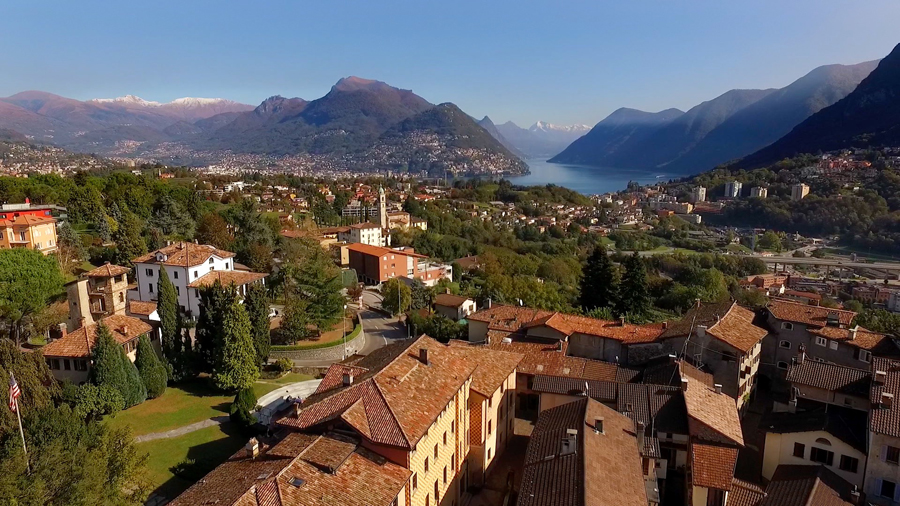 View of Lake Lugano from the TASIS campus