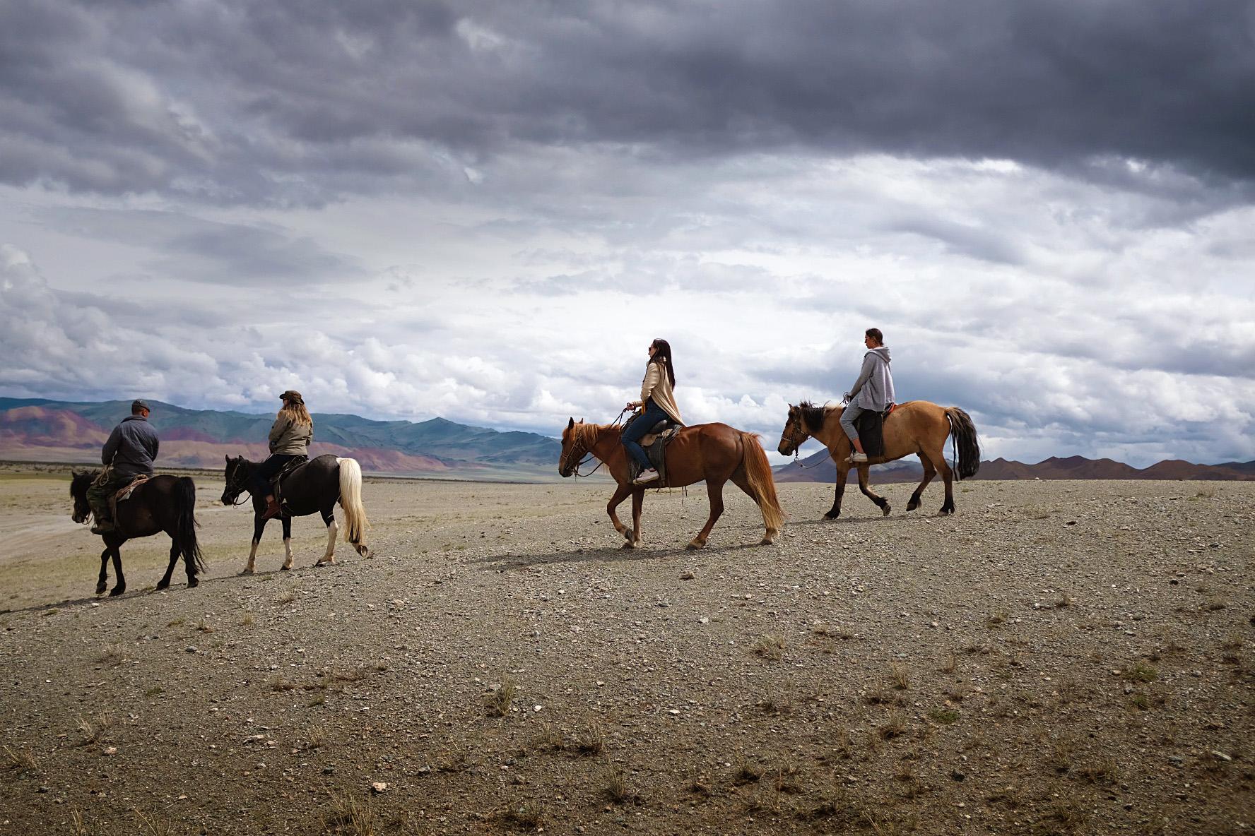 TASIS Students on horseback in Mongolia