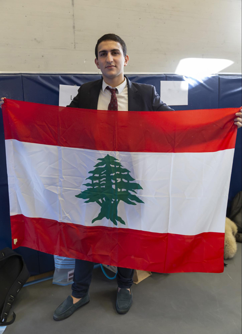 Rahal proudly carried the Lebanese flag during this year's International Week at TASIS