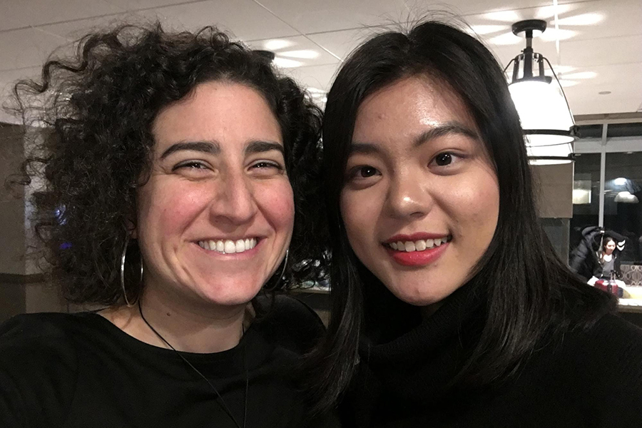 Caroline Rothstein '01 and Shu Ye '18