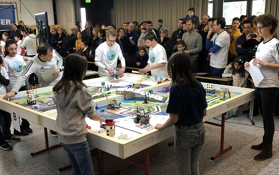 Middle School Students Compete at FIRST LEGO League Robotics Tournament