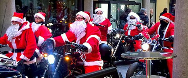 Biker Santas in Lugano
