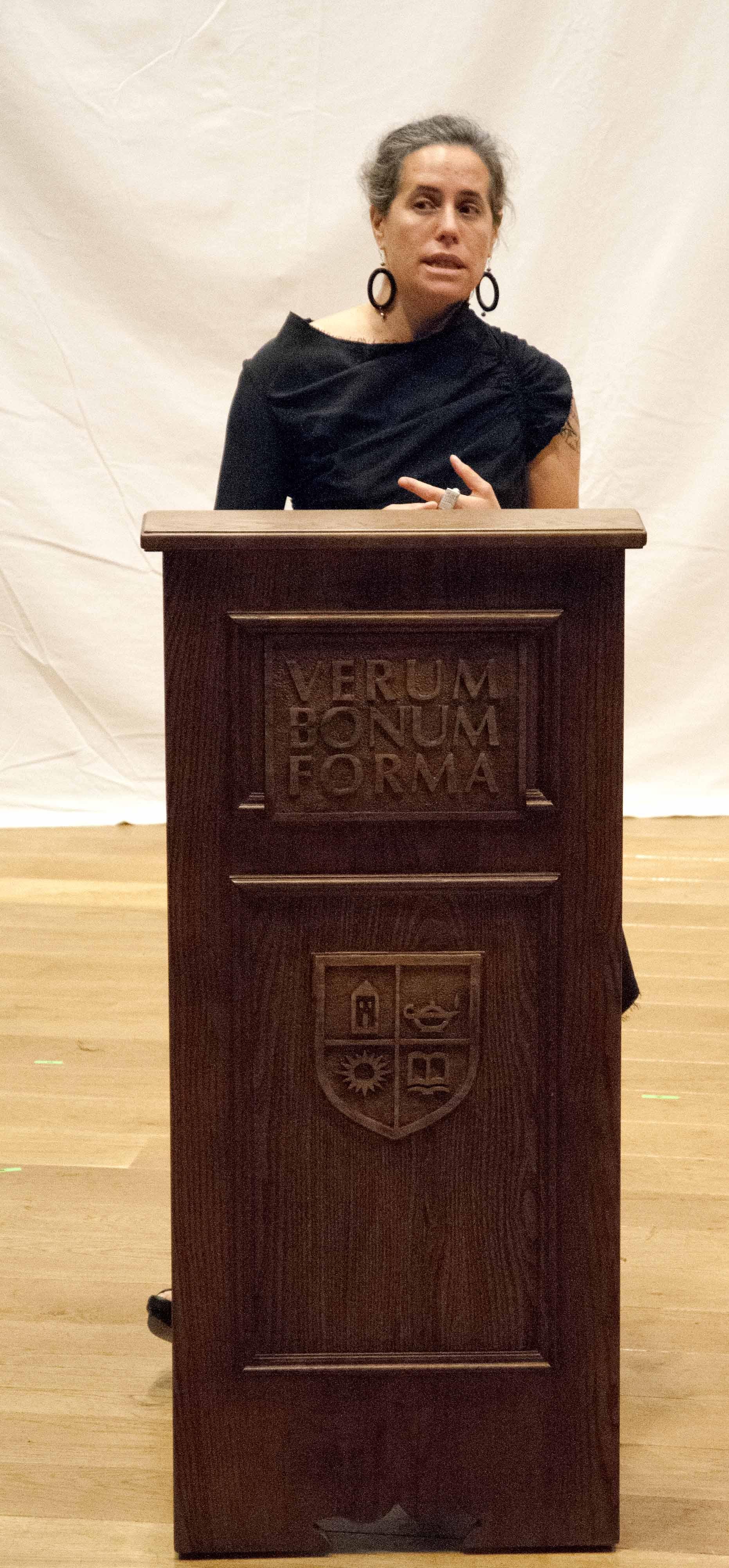 Amy Lehman speaking at TASIS