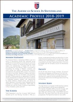 TASIS The American School in Switzerland: Academic Profile