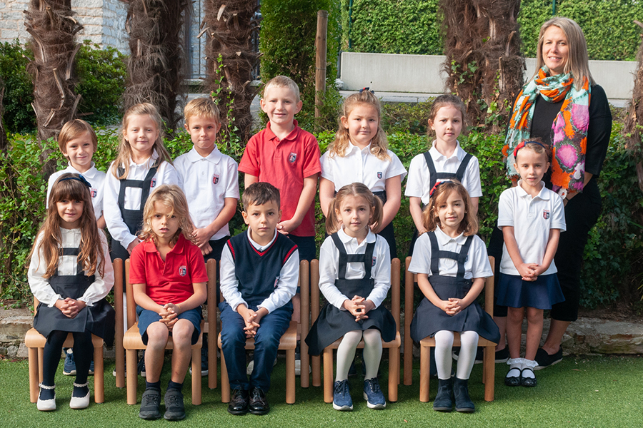Ms. Koltypin with her 2019 class (grade one)