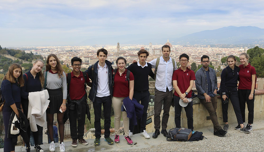 The 2016 Honors World Literature trip to Florence with Dr. Love