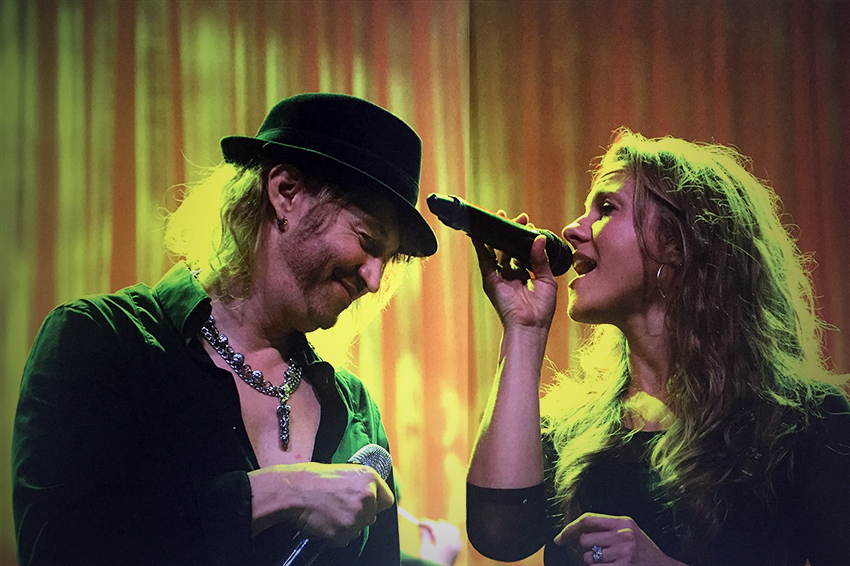 Melody Tibbits Zanecchia with Nic Maeder from Gotthard